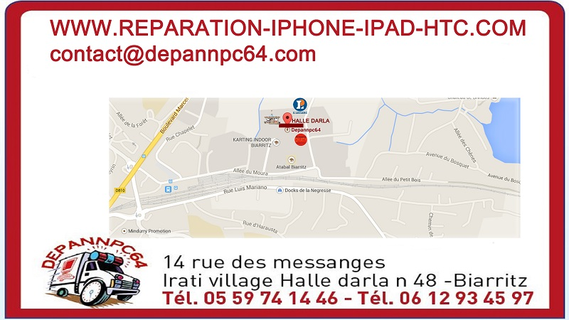 reparation iphone anglet pub