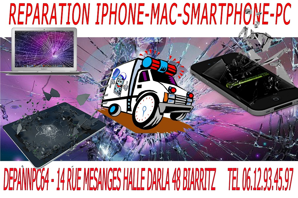 reparation iphone pc mac
